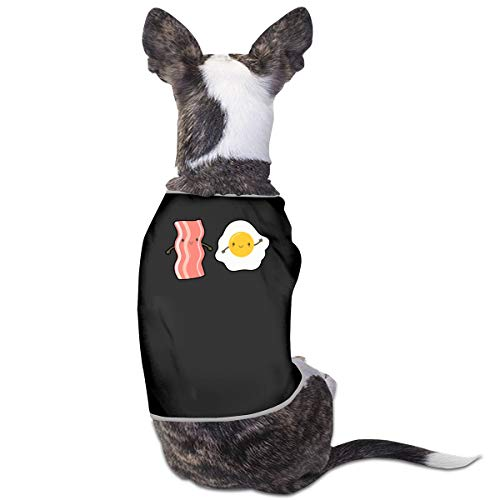 Bacon and Egg Puppy Costumes Pet Sleeveless T-Shirt Jacket Sweater