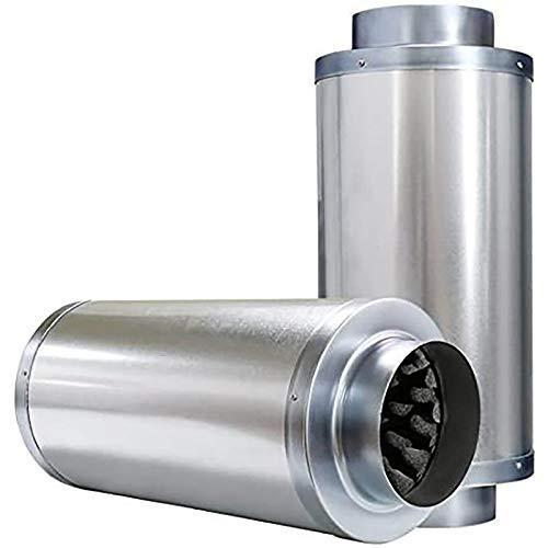 Silenciador reductor de ruido VIVOSUN de 8 pulgadas para ventilador de conducto en línea
