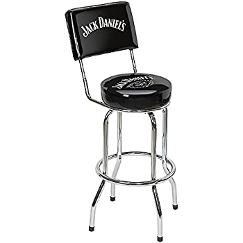 Cool Jack Daniels Swivel Bar Stool With Backrest Black Gmtry Best Dining Table And Chair Ideas Images Gmtryco