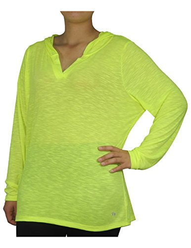 Price comparison product image PLUS SIZE Bally Total Fitness Womens Lightweight Yoga Hoodie / Sweatshirt 2X Yellow
