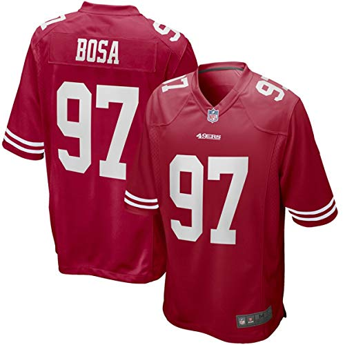 Men's #97 Nick Bosa San Francisco 49ers 2019 NFL Draft First Round Pick Game Jersey Red