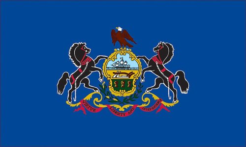 Valley Forge Flag Made in America 3' x 5' Nylon Pennsylvania State Flag (Pennsylvania Valley)