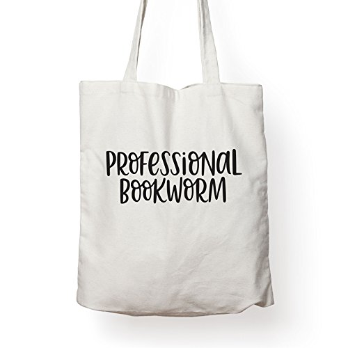 (Folio Professional Bookworm - Canvas Tote Bag Ideal Book Gift! Readers Gift Your Favorite Bookworm Man Woman. Fun Literary Gifts Friends That Love Book Related Quotes Quote Totes)