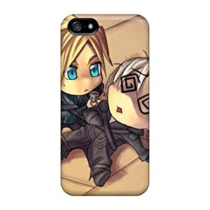 Durable Defender Case For Iphone 5/5s Tpu Cover(chibi And Kada)
