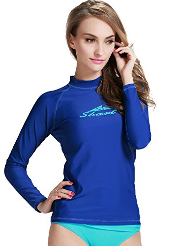 Damen Weiß UV-Shirt Rash Guard Surf Shirt Badebekleidung Long Sleeve S Watersport