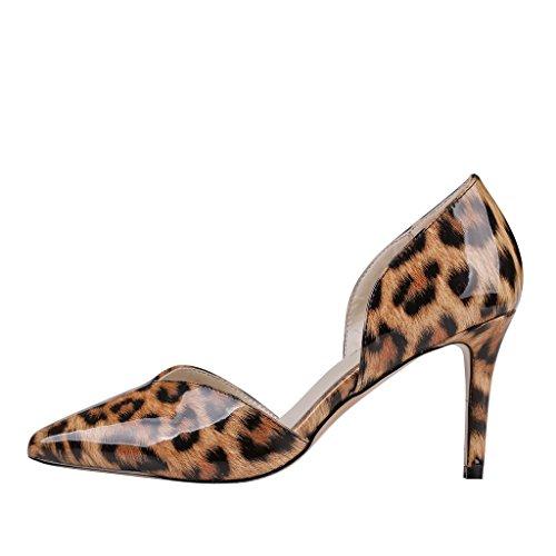 EKS - Zapatos de Tacón Mujer - Leopard-Lackleder