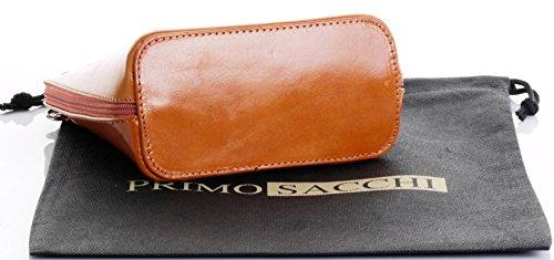 en la Petit un à rangement peinte de marque de ou sac cuir nbsp;Comprend main à Primo Tan de bandoulière protecteur main italien sac Sacchi sac OxqP4