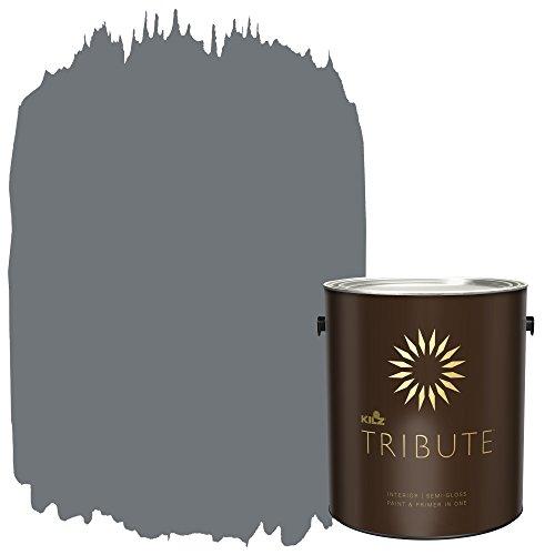 KILZ TRIBUTE Interior Semi-Gloss Paint and Primer in One, 1 Gallon, Old Lamppost (TB-37)