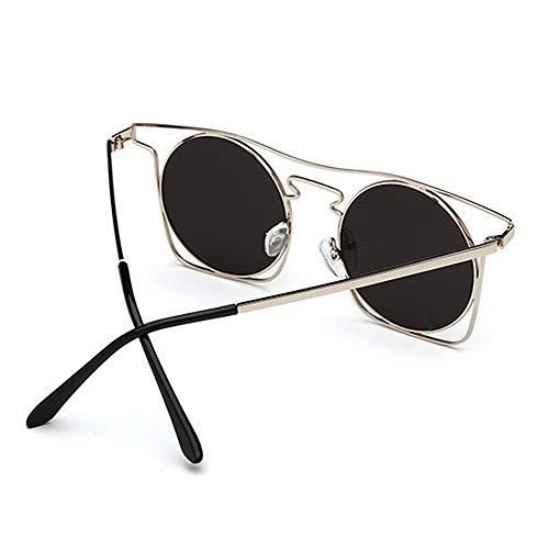 Conducir Montura C4 C3 Vacaciones con Gu de para UV400 de Verano la Gafas Playa en con Lente Unisex Color de Coloreada Peggy Metal Protección Sol gSZXanqPq