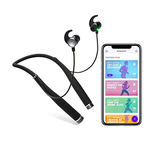 Vivi VI Unisex AI Ultimate Fitness Audio Coach mit Advanced in-Ear-Herzfrequenz, Schwarz, One Size