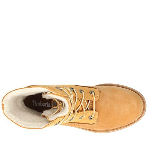 Timberland Boots Femme Wp Wht Teddy Fleece Auth Beige rqFYWvar
