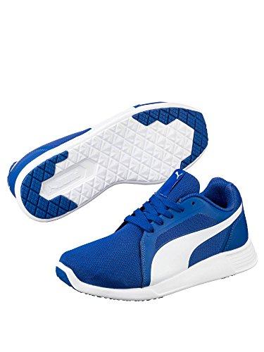 Puma , Baskets pour garçon bleu True Blue-Puma White