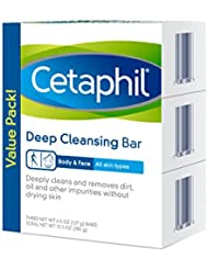 Cetaphil Deep Cleansing Face & Body Bar for All Skin...