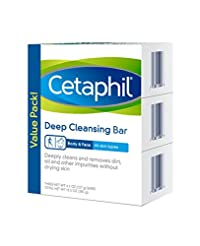 Cetaphil Deep Cleansing Face & Body Bar ...