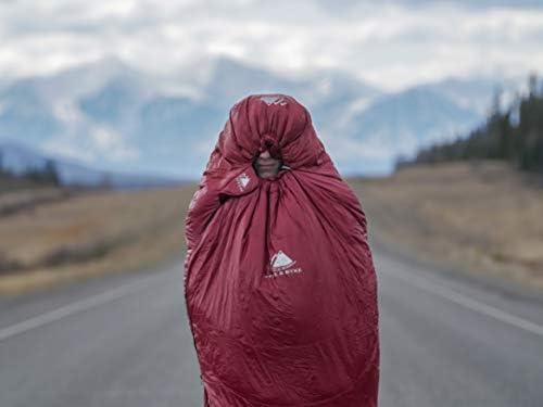 Base en ClusterLoft 3 Saisons Moins d/'1Kg Randonn/ée Trekking Camping Sac de Couchage Ultra-l/éger Momie en Duvet Hyke /& Byke Shavano 0 /°C Sac de Couchage Enfant ou Adulte