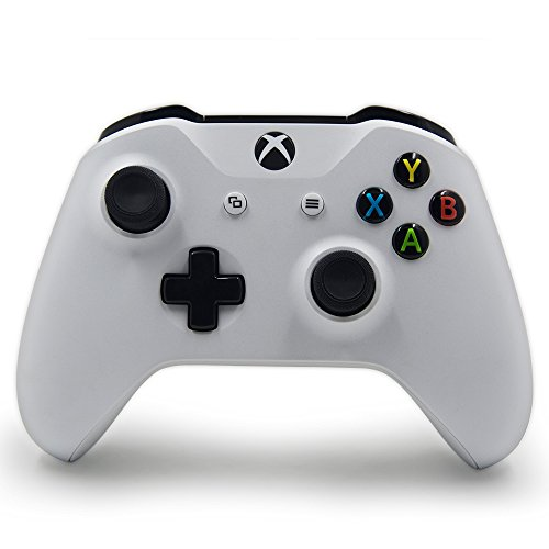 Wireless Controller for Xbox One S Console with 3.5 mm Headset Jack and Bluetooth - White Theme Controllers