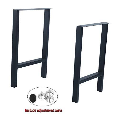 "Weven Industrial Metal Modern 2 Pcs (H28"" x W17.5"") Furniture Legs Rustic Decory H Type Table Legs,Heavy Duty Metal Desk Legs,Dining Table Legs,DIY Cast Iron Bench Legs,Black"