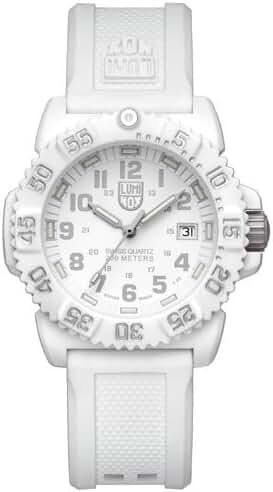 Luminox Women's Navy SEAL Colormark 7050 Series Rubber Watch - White