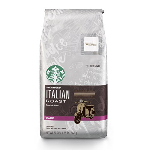 (Starbucks Italian Roast Dark Roast Ground Coffee, 20-Ounce Bag )