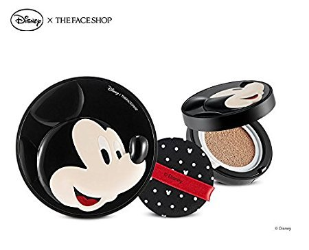 The Face Shop Disney CC Cooling Cushion (OEM) Micky (V201 Apricot Beige)