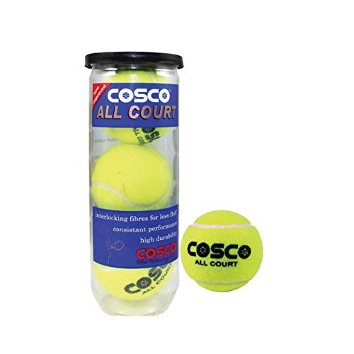Cosco All Court Tennis Ball, Pack of 3  11004