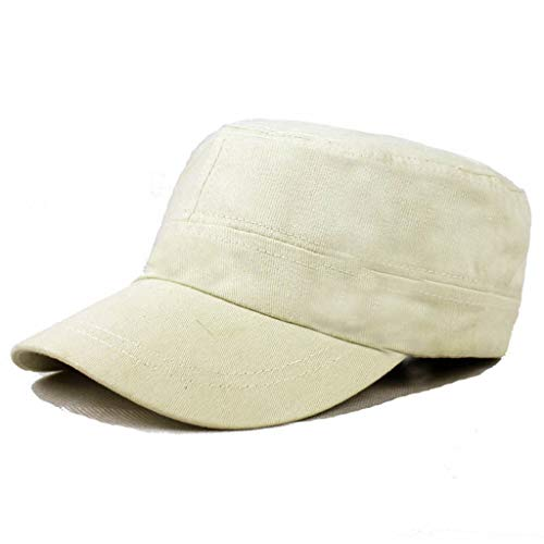 KCPer Army Cap Basic Everyday Military Style Hat Unisex Summer Flat Hat Outdoor Mountaineering Hat Visor Khaki