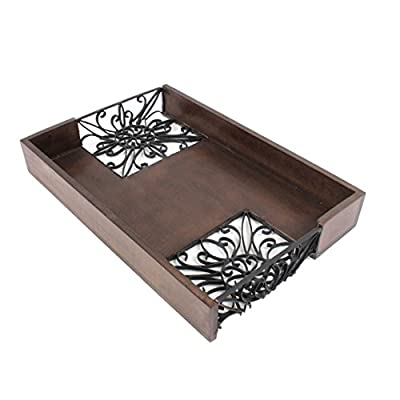 Christmas Gift Wooden MDF Serving Tray Platter with Floral Design Handmade Serveware Kitchen Accessories