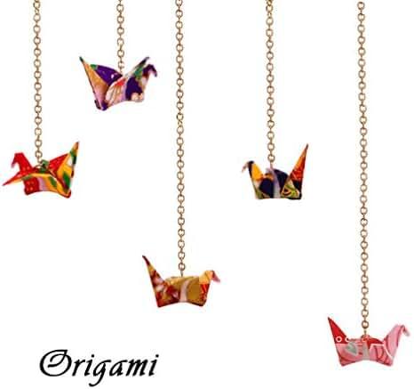 Handmade Creative Paper Crane Origami Women's Earrings 1PC