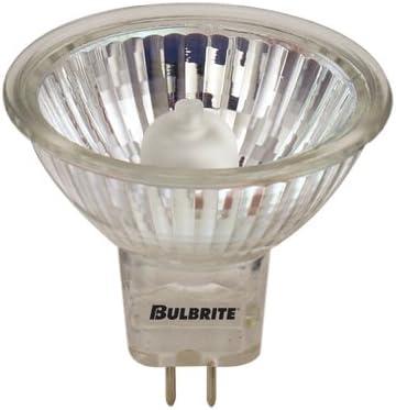GU5.3 Base 12PK Bulbrite 646150 EXT//24 50-Watt Dimmable Halogen MR16 Lensed Clear