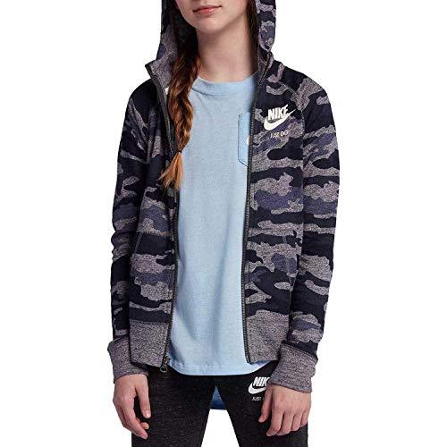 Nike Girl's Vintage Just Do It Full-Zip Camo Hoodie AQ0604 471 (m)