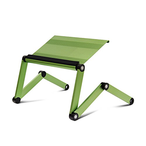Furinno A6-Green Ergonomics Aluminum Vented Adjustable Multi-functional Laptop Desk Portable Bed Tray (Multi Functional Desk)