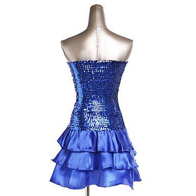 Rojo Dancewear Lentejuelas Noche Azul Paramujer Plata Organdí Ropa de Blue Vestidos Ropa Morado Oro Poliéster Noche BLACK Negro Fucsia de rZrqwYT
