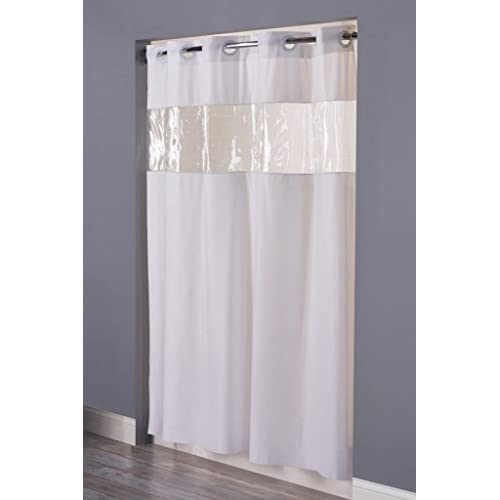 Vision VINYL Shower Curtain HOOKLESS