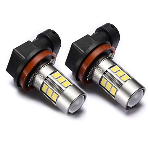 SEALIGHT H11/H8/H16 LED Fog Lights Bulbs DOT Approved, Cool Xenon White 6000K, Upgrade (Pack of 2)
