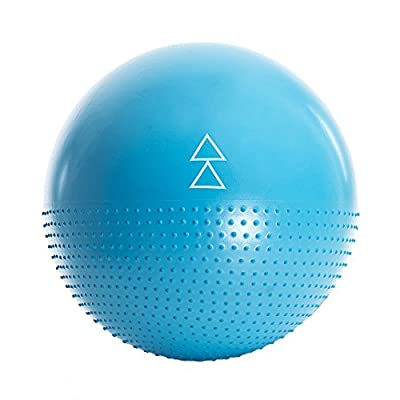 The Exercise Ball by Yoga Design Lab. Studio quality, dual-sided, non-slip, anti-burst technology. Designed to help you love all your barre, pilates, yoga & other fitness ball exercises. 65cm