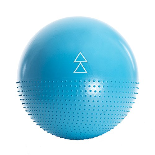 THE STABILITY BALL by YOGA DESIGN LAB | Inflatable Therapeutic Gym Ball | Great for Home or Office Desk Chair | Barre, Pilates, Resistance, Core, Abdominal + Fitness Exercises | 65cm | Includes Pump!