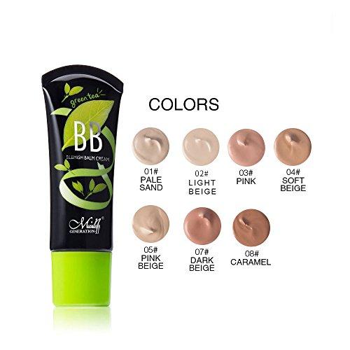 Green Tea Long Lasting High-Definition Maria Matte Effect Makeup Liquid BB Cream Foundation (02)