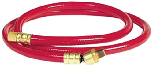 Workforce Air Whip Hose, 3/8 in. x 5 ft., 1/4 in. Fittings and Ball Swivel, PVC, Red - HWF3805RD2B