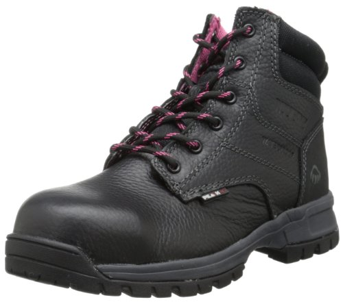 Wolverine Women's Piper Comp Safety Toe Boot,Black,8 W US by Wolverine