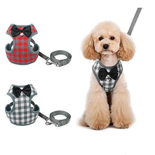 Vndaxau Pet Harness Strap Suit Tuxedo (M:Chest(14-19.7inches), Grey) ()