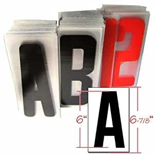 amazoncom 6quot black and red changeable sign letters for With sign letters amazon