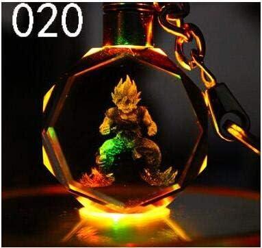 Dragon Ball Dragonball Z Son Saiyajin Goku Crystal Key Chain LED light Pendant
