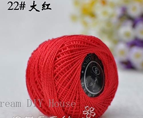 Maslin 10 Rolls Red Color 9s/2 100% Cotton Stitch Embroidery Thread Crochet Thread Hand Cross Embroidery Thread