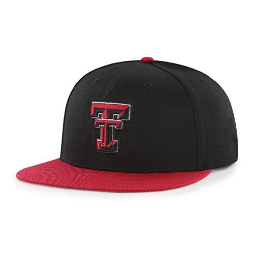OTS NCAA Texas Tech Red Raiders Adult Gallant Varsity Snapback Adjustable Hat, One Size, (Raiders Ncaa Basketball)