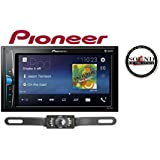 Pioneer MVH-200EX Digital Multimedia Video Receiver with 6.2 WVGA Display, and Built-in Bluetooth (Does NOT Play CDs) w/CrimeStopper SV51301IR License Plate Backup Camera & SOTS Freshener