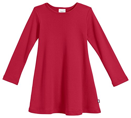 City Threads Big Girls' Cotton Long Sleeve Dress