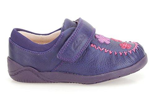 Schuhe Vorschule Leder Litzy Lila Clarks Evie Mädchen Violett Fst