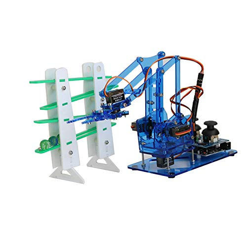 KINGDUO DIY Farbeful Mechanical Robot Arm Kit Mit Infrarot-Controllernmetall Servo Für Arduino-Blau