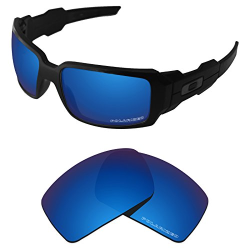 (Tintart Performance Lenses Compatible with Oakley Oil Drum Polarized Etched-Sapphire Blue)