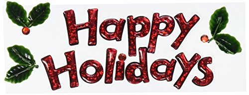 Holiday Title Waves 3-D Stickers-Happy Holidays